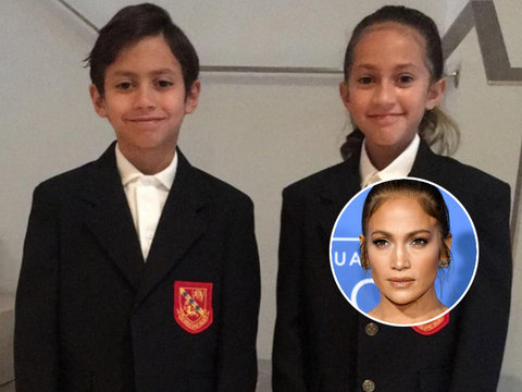 Jennifer Lopez Sends Her and Marc Anthony's Twins Off to Fourth Grade