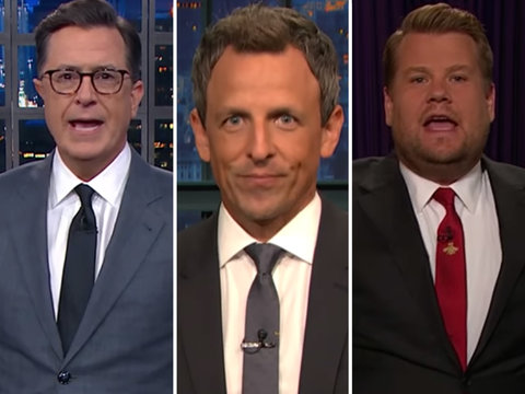 Late-Night Hosts Rip Trump Over Hurricane Remarks and Ivanka Calling Him 'Daddy'