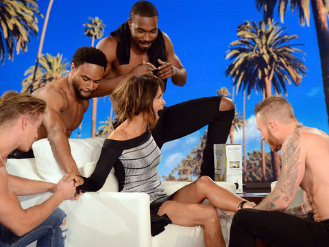 Halle Berry Loves Every Second of Channing Tatum's Stripper Surprise on 'Ellen'