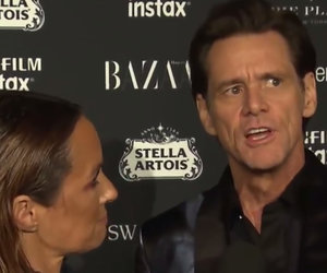 Jim Carrey Just Gave One of the Most Bizarre Red Carpet Interviews of All Time