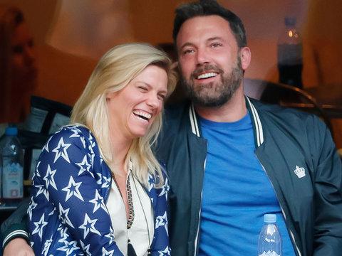 Ben Affleck Spotted at US Open with GF Lindsay Shookus