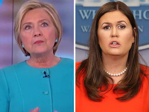 Clinton Fires Back at Sarah Huckabee Sanders for Calling Her Book 'Sad,' 'False' and…