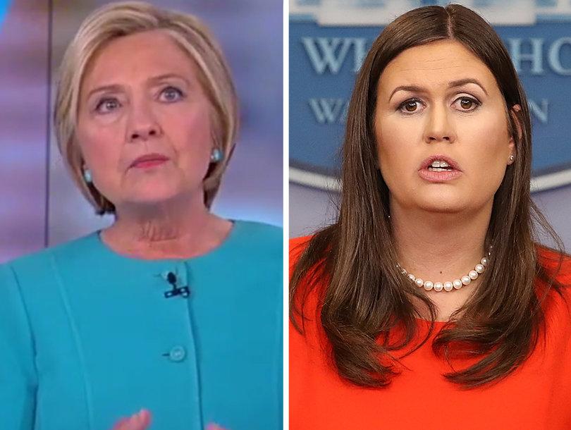 Clinton Fires Back at Sarah Huckabee Sanders for Calling Her Book 'Sad,'…
