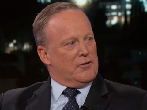 5 Things Sean Spicer Addressed on 'Kimmel': From Naked Trump to The Mooch