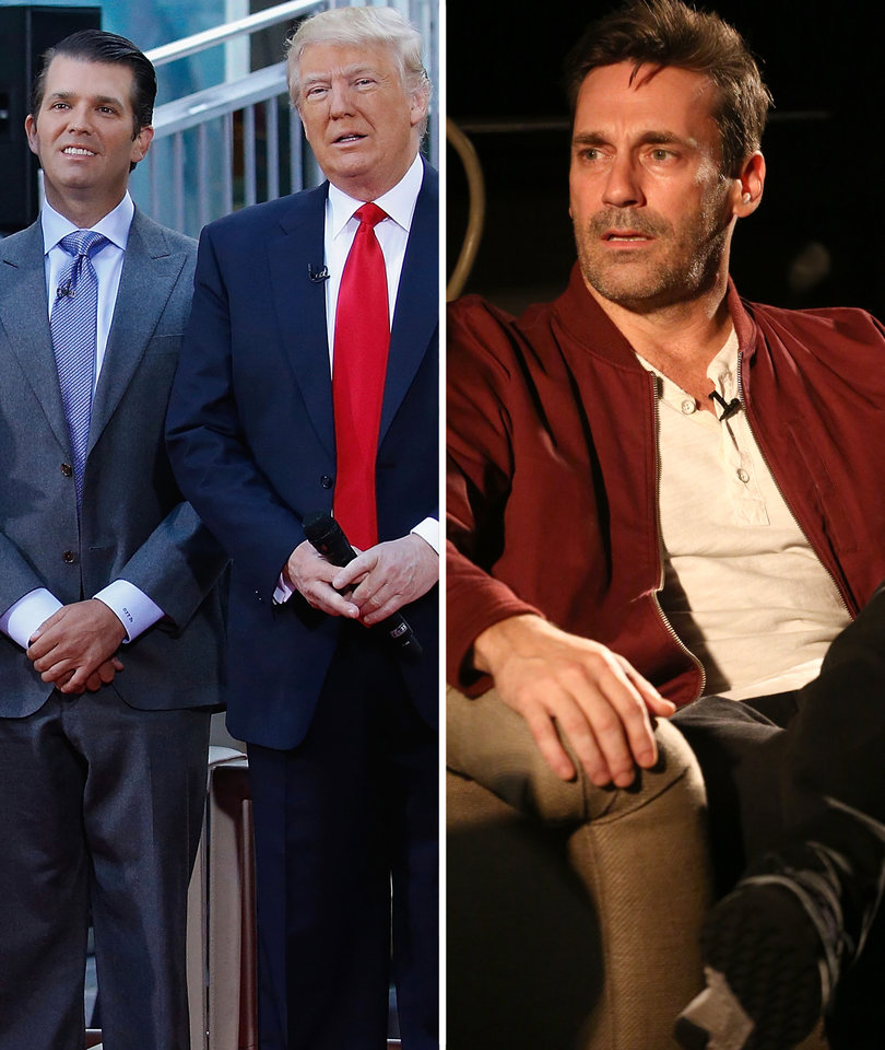 Jon Hamm, Donald Trump and Donald Trump Jr. Are Fighting Over Who's the 'Alpha'