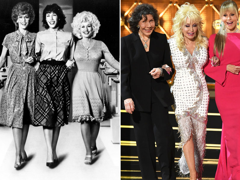 '9 to 5' Stars Dolly Parton, Jane Fonda and Lily Tomlin Reunite to Shred 'Sexist, Egotistical, Lying Bigot' Trump at Emmys
