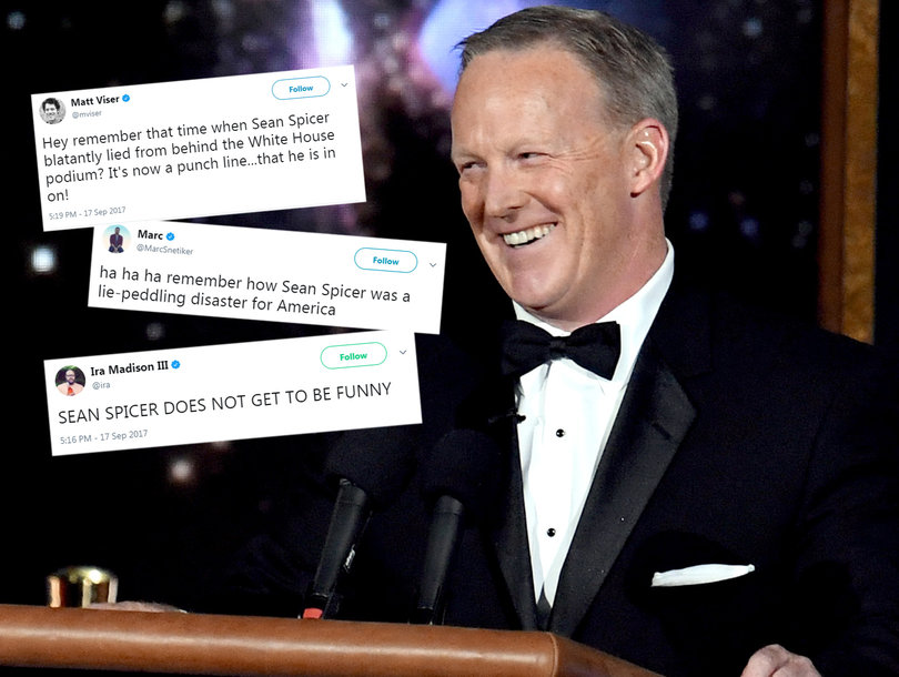 Sean Spicer's Emmy Cameo Shocker Trashed on Twitter