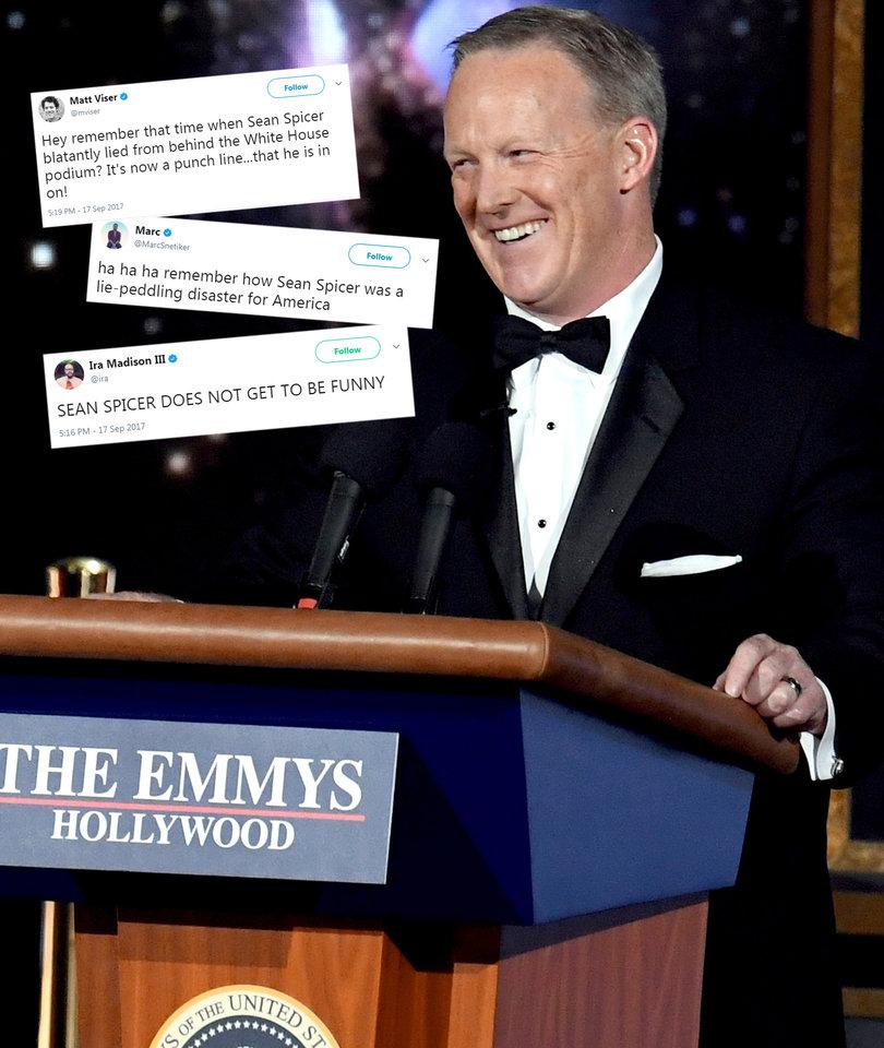 Sean Spicer's Emmy Cameo Shocker Trashed on Twitter