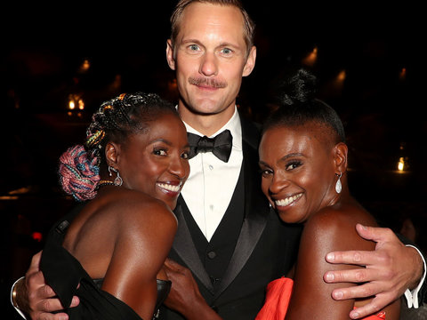 'True Blood' Reunion for Alexander Skarsgard After Emmy Win
