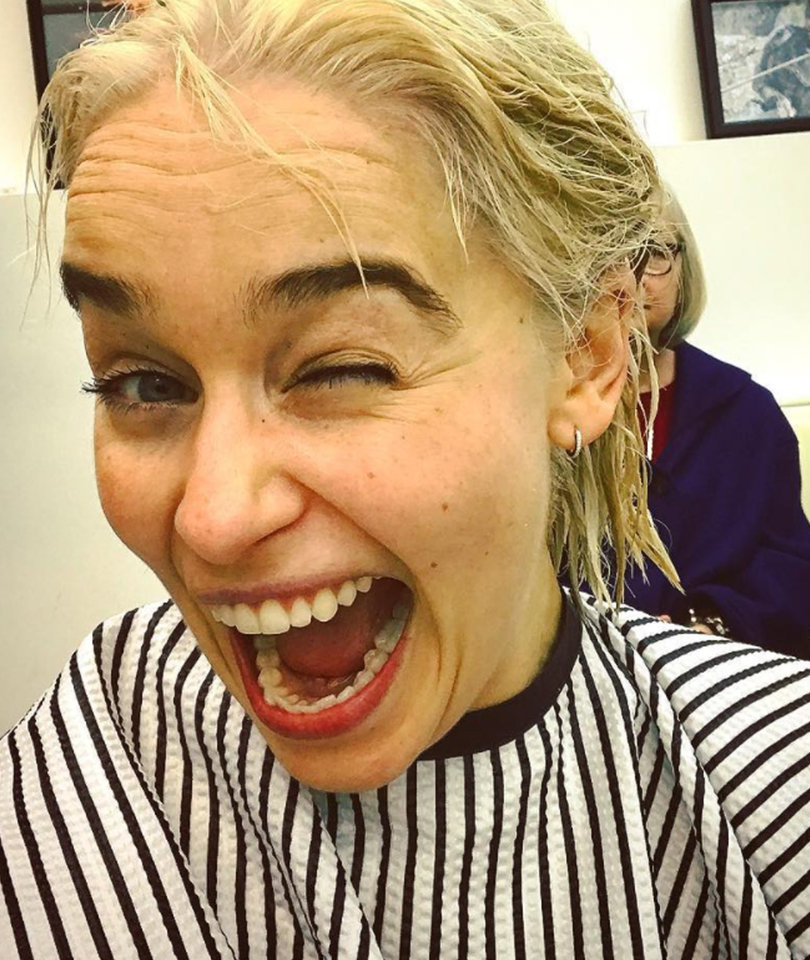 'Game of Thrones' Star Emilia Clarke Finally Goes Khaleesi-Blonde for Real