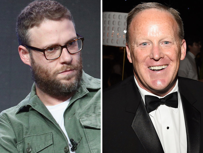 The Not-So-Nice Way Seth Rogen Would Greet Sean Spicer at a Party