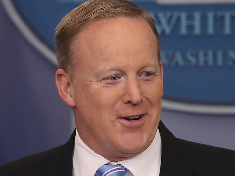 Sean Spicer Shares Trump's Reaction to Emmys Cameo