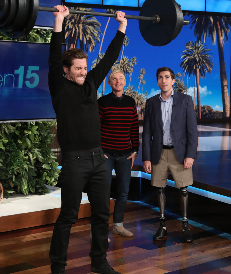 Jake Gyllenhaal Tosses Keg, Flips Tire to Win $10,000 for Amputee Charity