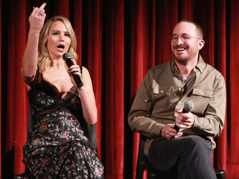 Jennifer Lawrence Got Feisty at 'mother!' Screening