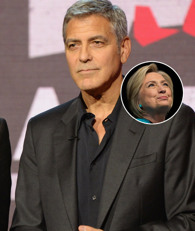 George Clooney on Why Hillary Clinton Lost: Her Speeches 'Didn't Soar'