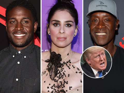 Hollywood Reacts to Donald Trump's 'Son of a Bitch' Remarks Toward NFL Protests