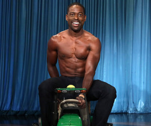 'This Is Us' Star Sterling K. Brown Pops 'Ellen' Cherry With Shirtless Tractor Ride