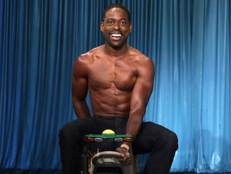 'This Is Us' Star Sterling K. Brown Pops 'Ellen' Cherry With Shirtless Tractor…