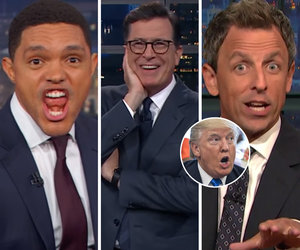 Late-Night Comedians Tackle Trump's Obsession With NFL Players Who #TakeTheKnee