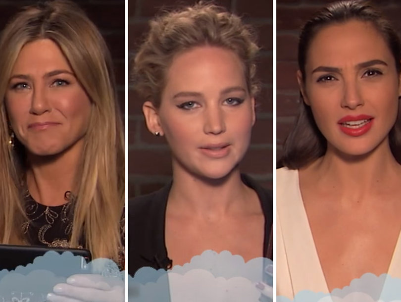 Jennifer Aniston, Jennifer Lawrence, Gal Gadot Among A-Listers Reading Really Mean Tweets for Kimmel