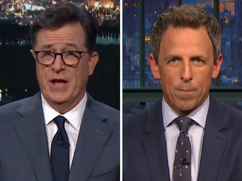 Colbert, Meyers Bash 'Sh-tty Landlord' Trump for Puerto Rico Response