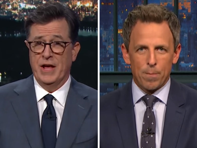 Colbert, Meyers Bash 'Sh-tty Landlord' Trump for Puerto Rico Response