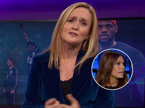 Sam Bee Blasts Fox News and Trump for Hypocrisy Over NFL Protests
