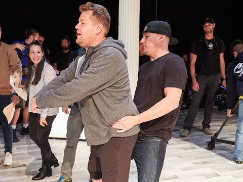 Channing Tatum Auditions James Corden for 'Magic Mike Live'