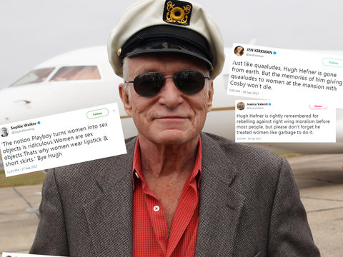 Feminists Rail on Playboy Hugh Hefner for a Lifetime Spent Objectifying Women