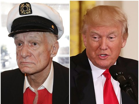 Hefner's Perfect Response to Trump Demanding Playboy Cover: 'Ewww'