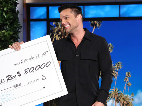 Ricky Martin Calls on 'Ellen' Viewers to Help Puerto Rico: 'People Are Dying'