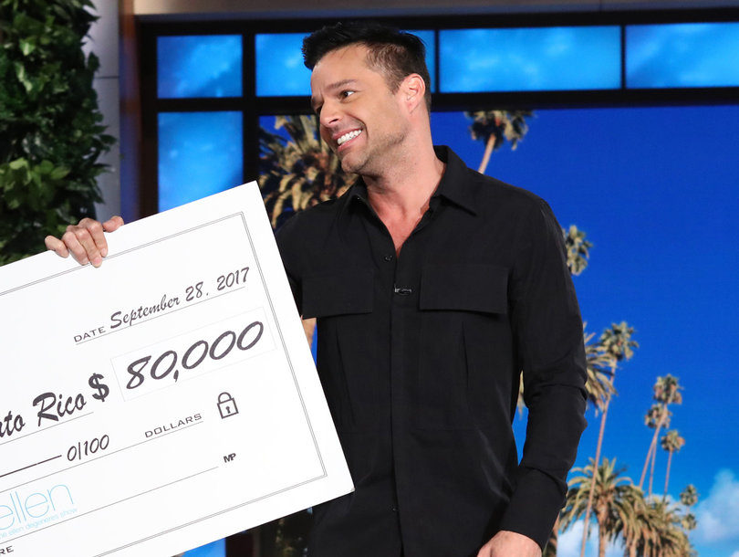 'People Are Dying': Ricky Martin Fundraises for Puerto Rico Disaster on 'Ellen'