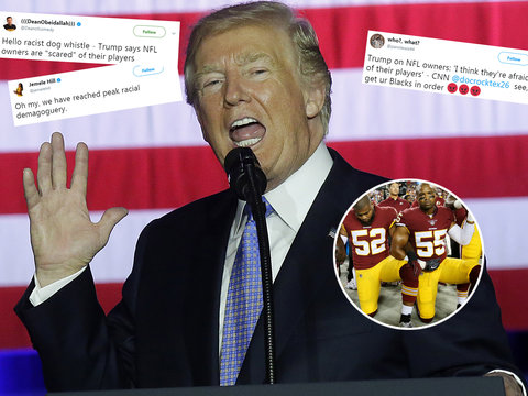 Trump's Claim NFL Is 'Afraid of Their Players' Ignites Racial Backlash