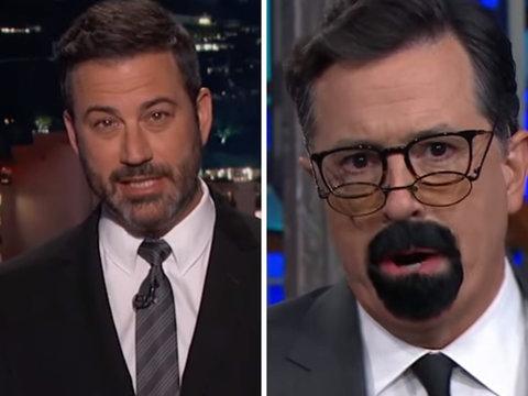 Colbert, Kimmel Target Steven Seagal for Bashing NFL Kneelers