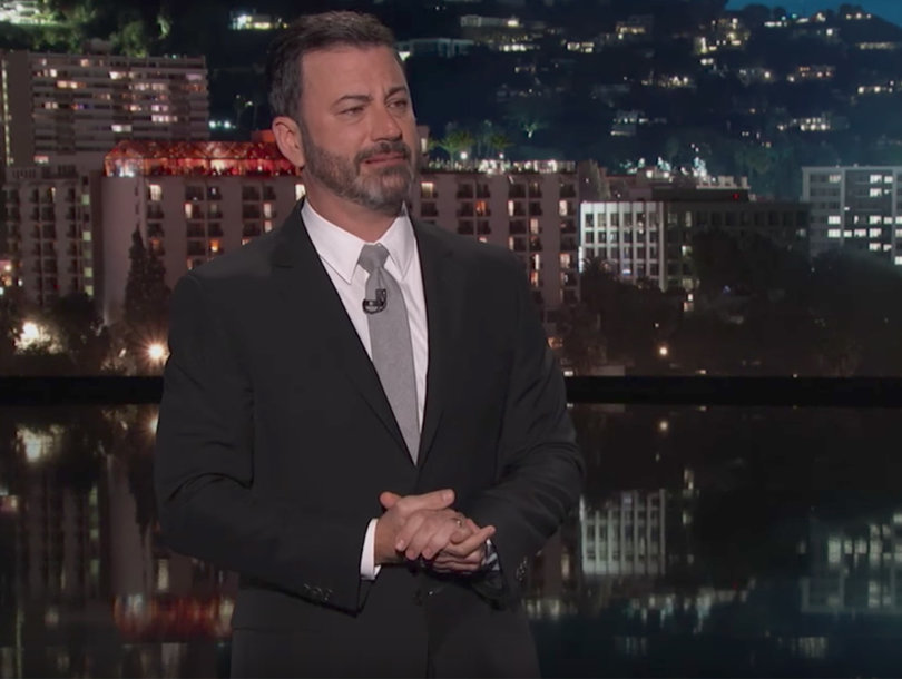 Jimmy Kimmel Chokes Up In Passionate Monologue After Las Vegas Shooting