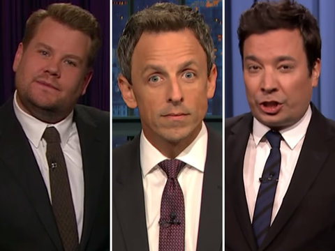Late-Night Stars Slam 'Disaster' Donald Trump for Puerto Rico Trip