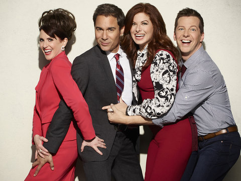 'Will & Grace' Blooper Reel: F-Bombs, Pillow Fights and Crotch Grabs!