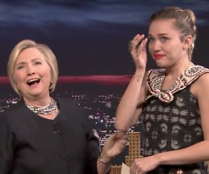 Miley Cyrus Tears Up While Thanking Hillary Clinton on 'Tonight Show'