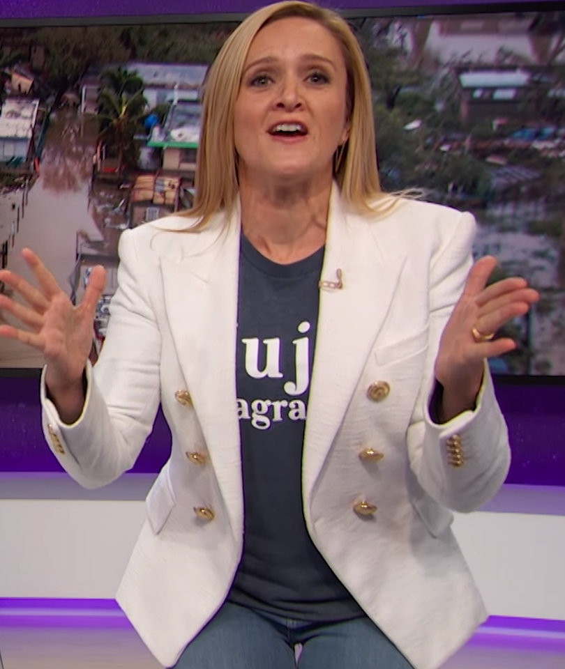 Samantha Bee Says 'Rest of Us' Also to Blame for Ignoring Puerto Rico