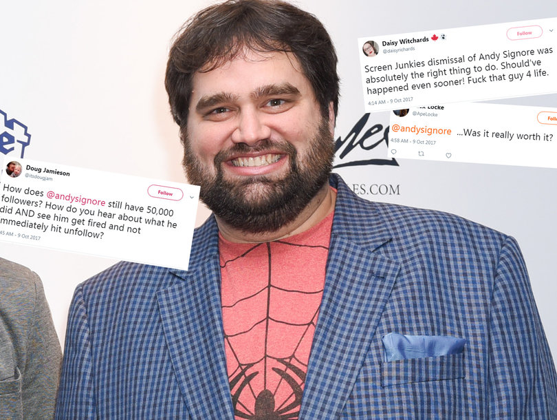 Fans Trash Screen Junkies for Not Firing 'Honest Trailers' Creator Andy Signore Fast Enough