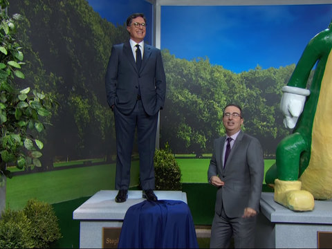 John Oliver Offers Stephen Colbert as Replacement for Confederate Statue