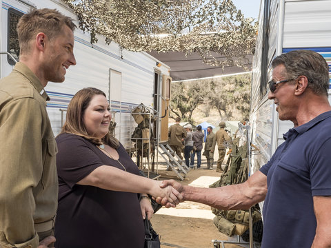 Chrissy Metz Gives 'This Is Us' Guest Star Sylvester Stallone a Glowing Review