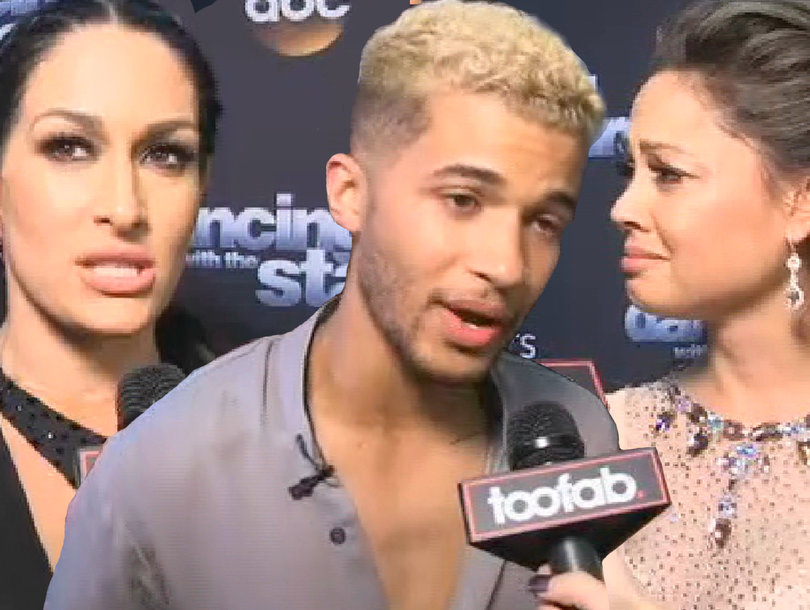 Behind the Scenes With 'Dancing With the Stars' Cast As They Get Choked Up During TooFab's Interviews (Exclusive Video)