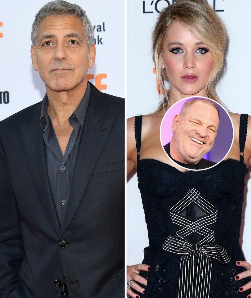 George Clooney, Jennifer Lawrence Slam Weinstein's 'Gross' Behavior