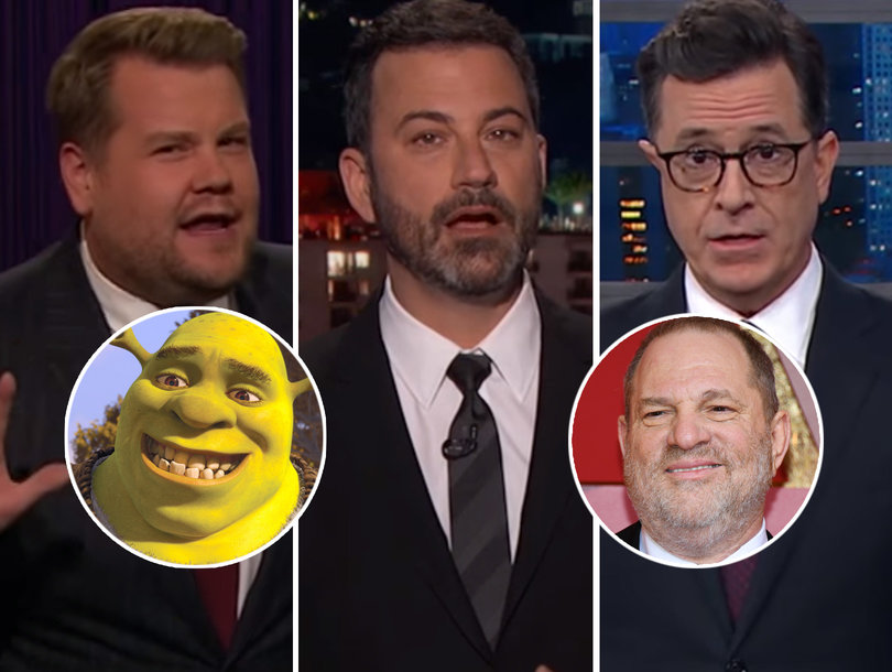 Late-Night Hosts Rail on 'Human Shrek' Harvey Weinstein Over Sexual Harassment Accusations