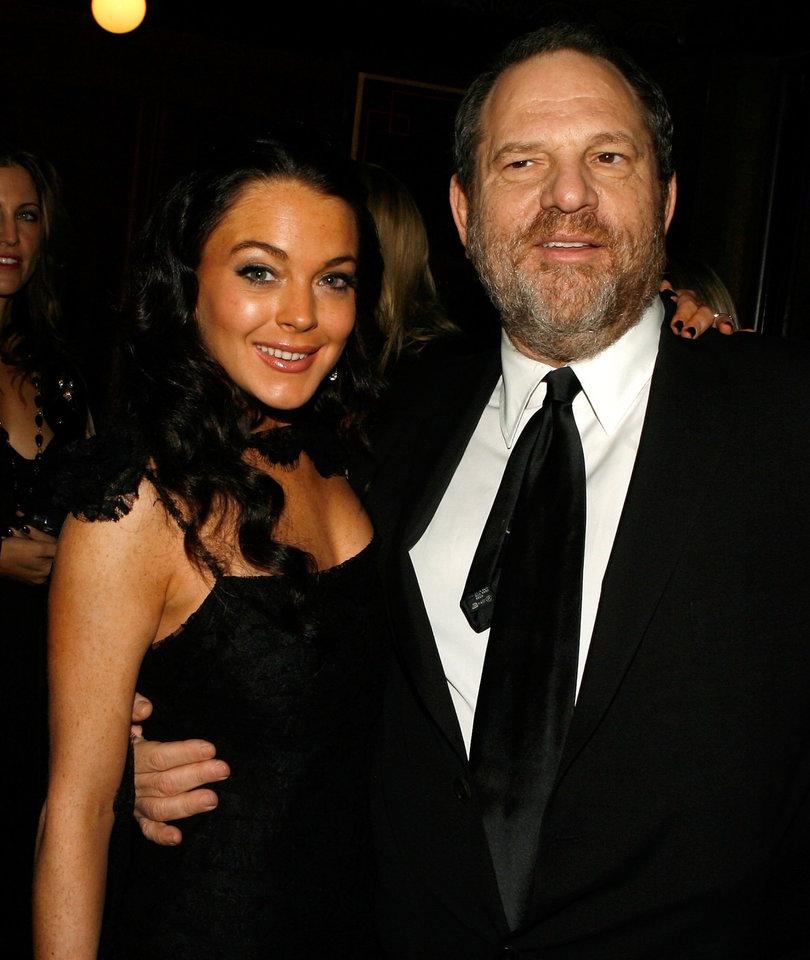 Lindsay Lohan Defends Harvey Weinstein and Twitter Isn't Having It