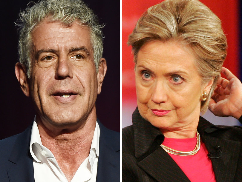 Anthony Bourdain Slams Hillary Clinton's 'Shameful' Response to Harvey Weinstein Scandal