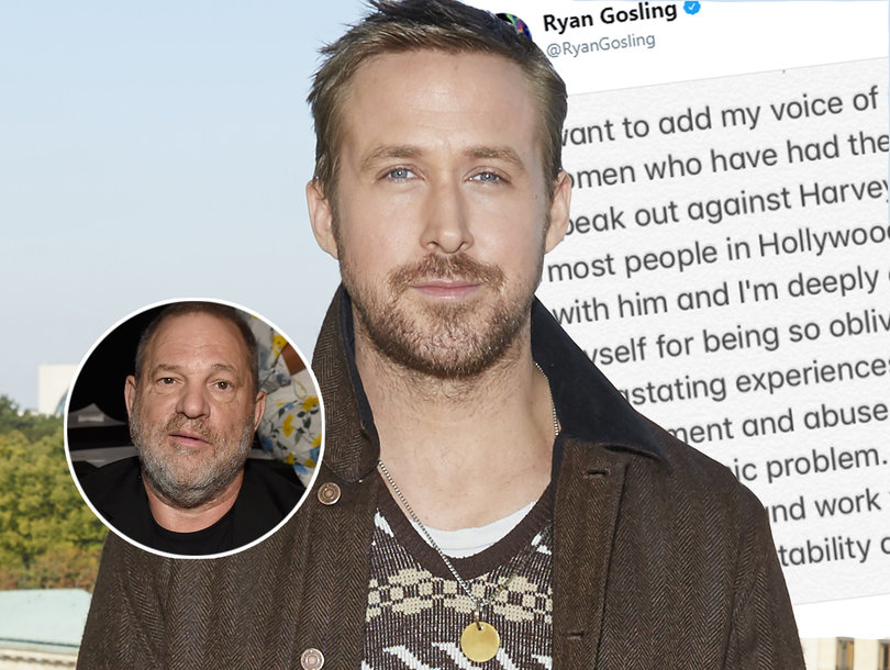Here's What Ryan Gosling Has to Say About the Harvey Weinstein Scandal
