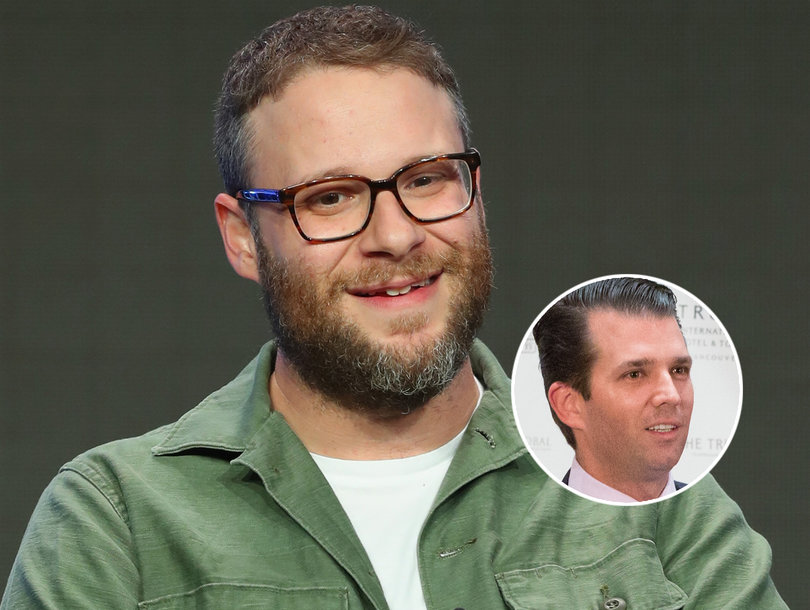 Seth Rogen Slides Into Donald Trump Jr.'s DMs to 'Remind Him His Father Is a Sexual Predator'