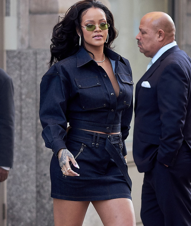 Rihanna Works It In Head-to-Toe Denim in NYC